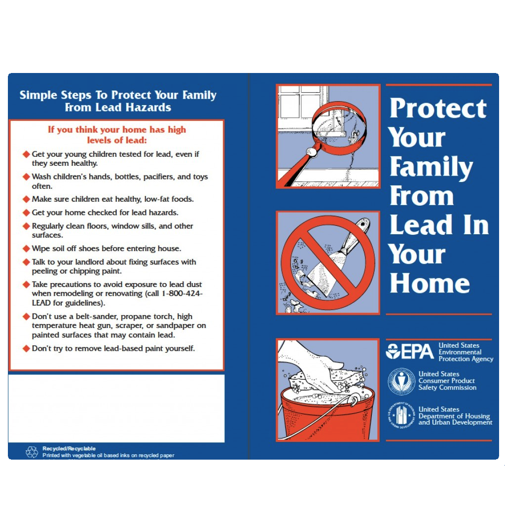 EPA Lead Based Paint Disclosure and Pamphlet | Purchase | Rental ...