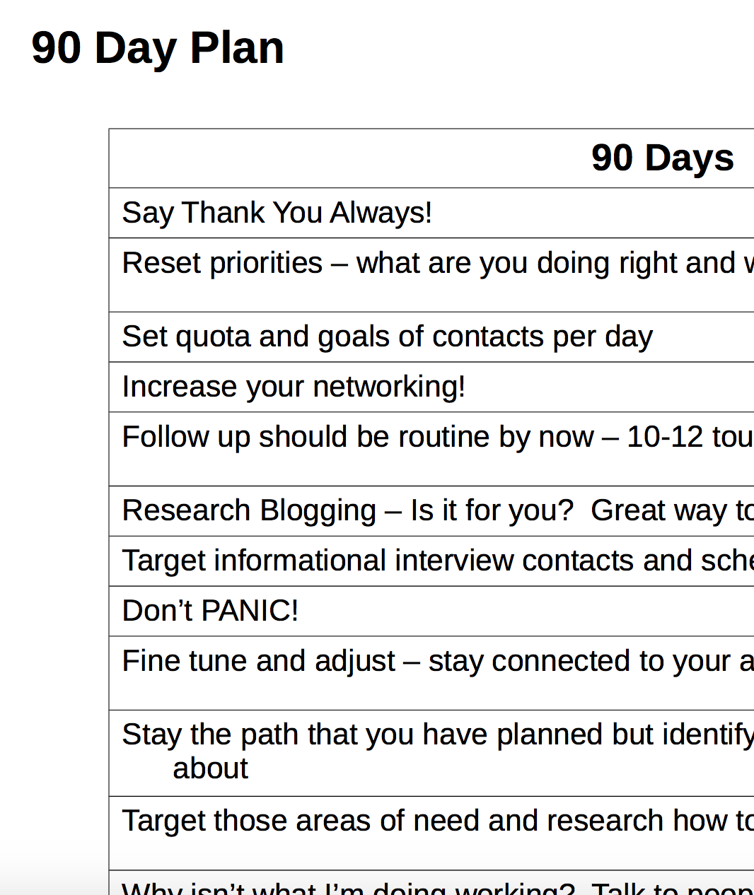 30 60 90 Day Action Plan Template | 90 day action plan 2
