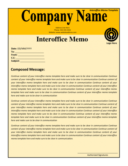 Interoffice Memo Template – Interoffice Memos
