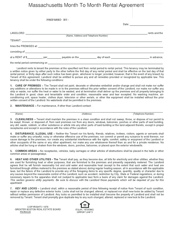 Rental Agreement Template Washington State Free Washington
