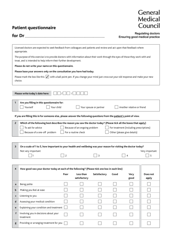 free questionnaire template