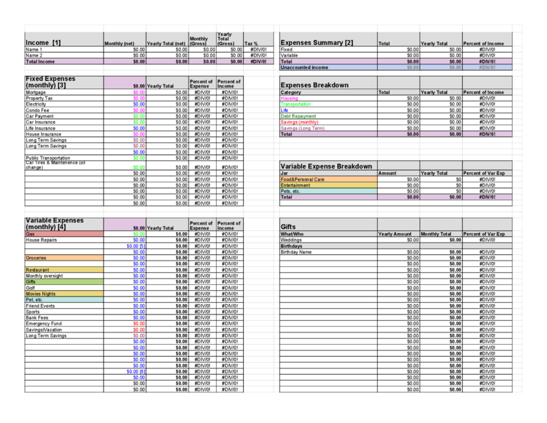 Chruch Budget Templates Download For Free