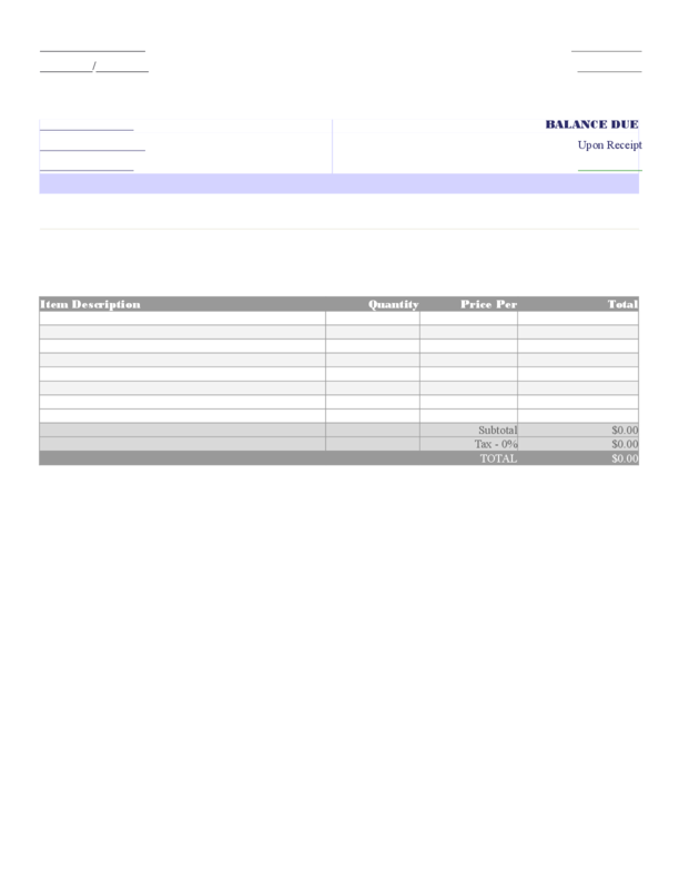 Invoice 1   LegalForms.org