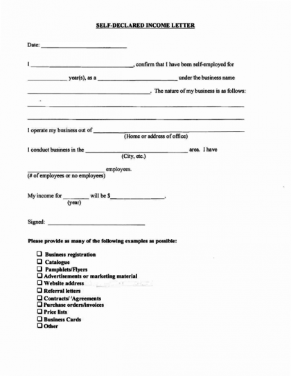 Income Verification Letter – Sample Income Verification Letter
