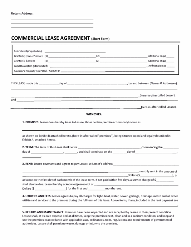 Puerto Rico Commercial Lease Agreement  Commercial Property Lease Agreement Free Template