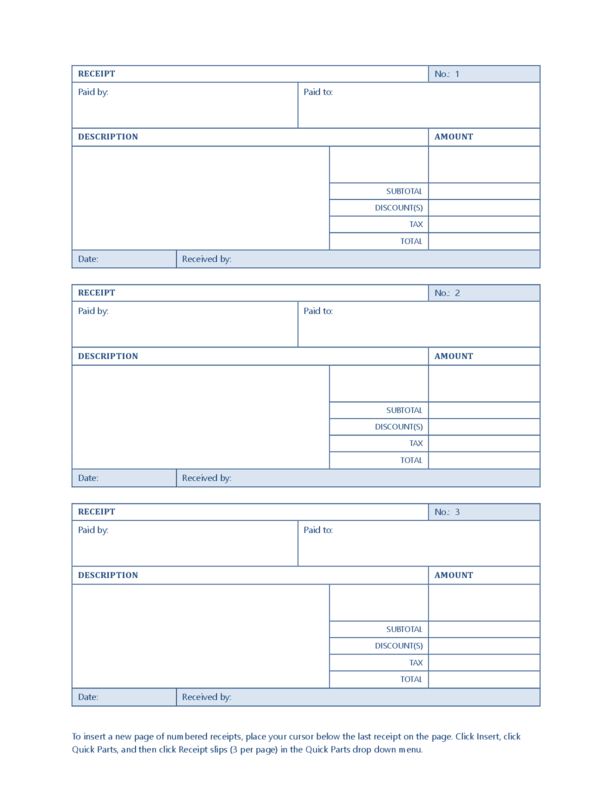 Sales Receipt Template | LegalForms.org