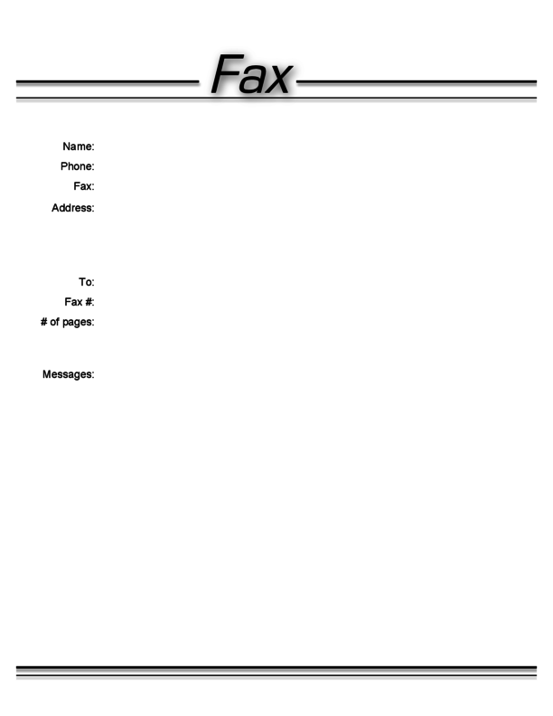 Generic Fax Cover Letter Free Fax Cover Sheet For Mac #0: preview